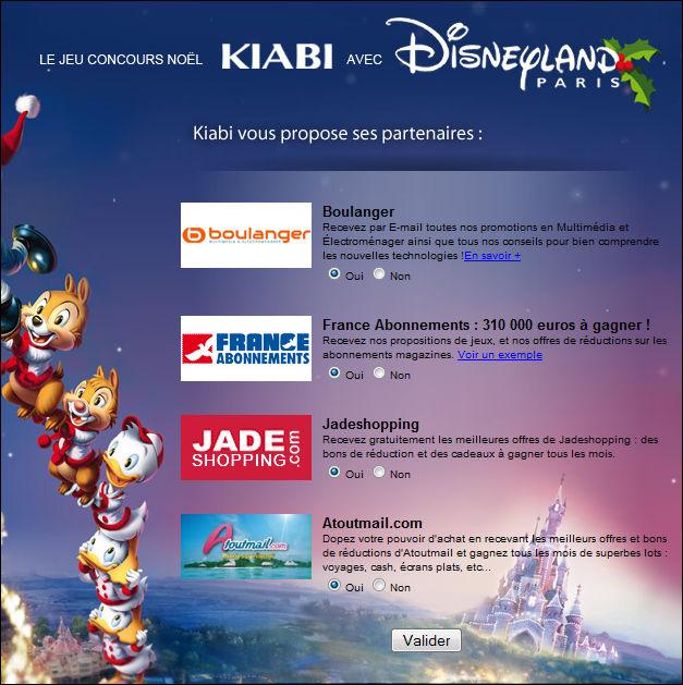 Sponsoring et coregistration jeu concours