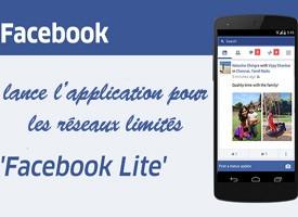 Facebook Lite, l'application pour les réseaux limités