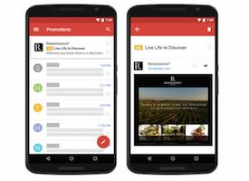 Les native Gmail ads sont sur Adwords